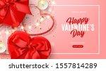 promo banner for valentine's...   Shutterstock .eps vector #1557814289