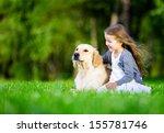 little girl sitting on the... | Shutterstock . vector #155781746