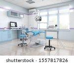3d Rendering Modern Dentist's...
