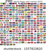 world flags with names... | Shutterstock .eps vector #1557823820