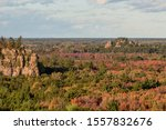 A Telephoto Shot of the Central Wisconsin Mill Bluffs Landscape on a Fall Afternoon