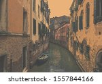 Vintage Background Of Venice...