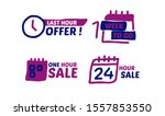 sale count down badge with... | Shutterstock .eps vector #1557853550
