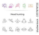 head hunting line icon set.... | Shutterstock .eps vector #1557878723