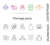 marriage party icons. set of... | Shutterstock .eps vector #1557879569