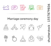 marriage ceremony day icons.... | Shutterstock .eps vector #1557879836