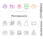 marriage party line icons. set... | Shutterstock .eps vector #1557880016