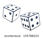 two dices vector illustration | Shutterstock .eps vector #155788223