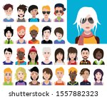 large set of people avatars in...   Shutterstock .eps vector #1557882323