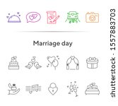 marriage day line icons. set of ... | Shutterstock .eps vector #1557883703