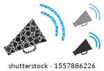 announce horn mosaic of uneven... | Shutterstock .eps vector #1557886226