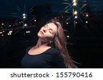20s lonely woman head and... | Shutterstock . vector #155790416