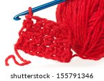 woolen thread with crochet... | Shutterstock . vector #155791346