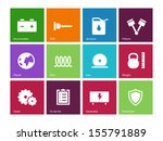 tools icons on color background....