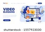 video blogging vector landing...