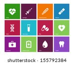 medical icons on color... | Shutterstock . vector #155792384