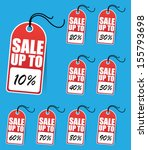sale tags | Shutterstock .eps vector #155793698