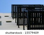 fire escape stairs at a house...   Shutterstock . vector #15579409