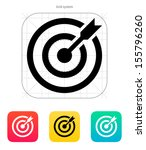 darts target aim icon.... | Shutterstock .eps vector #155796260