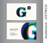 Business Card Template  Letter G