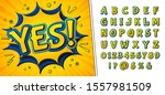 comics font  funny kid's... | Shutterstock .eps vector #1557981509