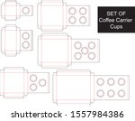 set of coffee carrier cups  ... | Shutterstock .eps vector #1557984386