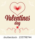 gift card for lovers. happy... | Shutterstock .eps vector #155798744