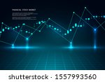 economic graph with diagrams on ... | Shutterstock .eps vector #1557993560