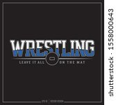 American Wrestling Sports Design. Wrestling mat, Team