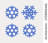 set of blue snowflakes of... | Shutterstock .eps vector #1558006466