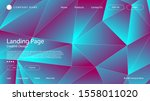 abstract modern graphic element.... | Shutterstock .eps vector #1558011020