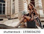 outdoor full length portrait of ...   Shutterstock . vector #1558036250