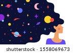 modern flat character. woman...   Shutterstock . vector #1558069673