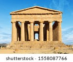 Temple Of Concordia In Valley...