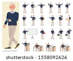 set of businessman character... | Shutterstock .eps vector #1558092626