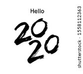 happy new year 2020 greeting... | Shutterstock .eps vector #1558112363