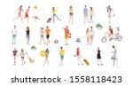 illustration material  people ... | Shutterstock .eps vector #1558118423