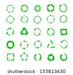 green circle arrows of... | Shutterstock .eps vector #155813630