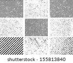 grunge set stripe. vector... | Shutterstock .eps vector #155813840