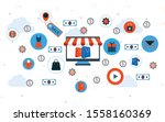 vector illustration of online...   Shutterstock .eps vector #1558160369