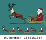 isolate santa claus on city... | Shutterstock .eps vector #1558161959