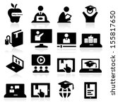 online education icons | Shutterstock .eps vector #155817650