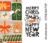 merry christmas and happy new... | Shutterstock .eps vector #1558184759