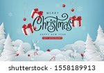 merry christmas sale banner... | Shutterstock .eps vector #1558189913