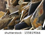 uncut granite parts ready to be ... | Shutterstock . vector #155819066