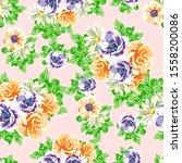 abstract elegance seamless... | Shutterstock . vector #1558200086