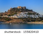 Lindos With The Castle Above O...