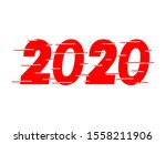 happy new year 2020 red text... | Shutterstock .eps vector #1558211906