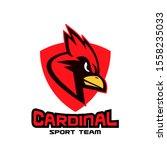 cardinal bird red logo with...   Shutterstock .eps vector #1558235033