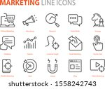 set of marketing icons  seo ... | Shutterstock .eps vector #1558242743